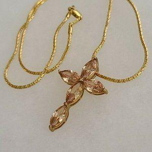 Shiny Cross Necklace Pendant Fashion Jewelry 925